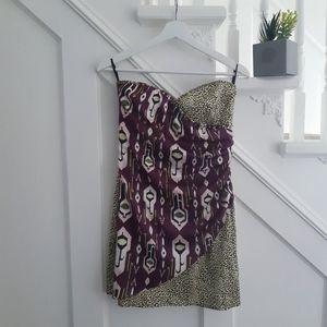 H&M strappless dress